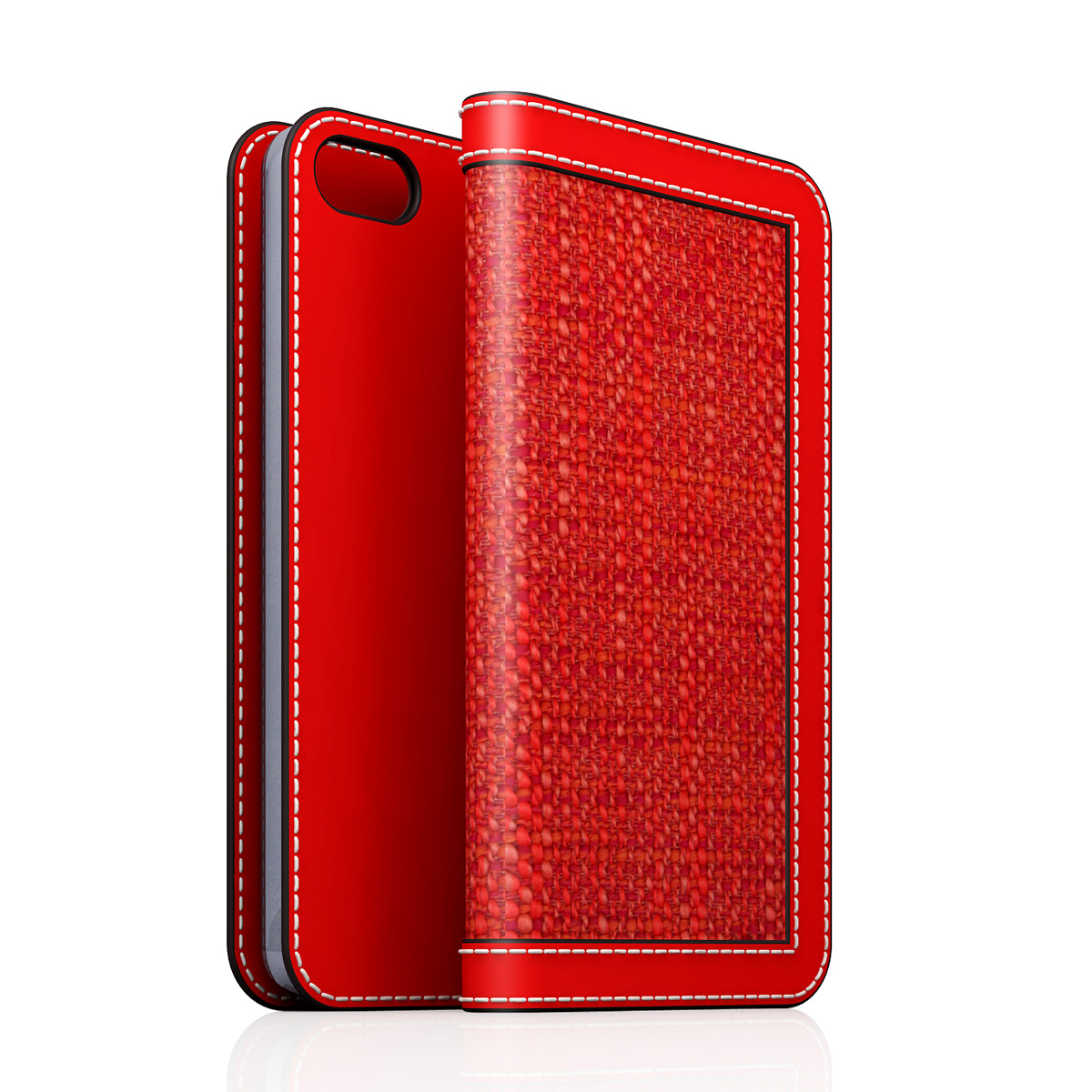 [iPhone5/5s] D5 Edition Calf Skin Leather Diary レッド