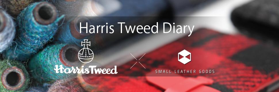 iPhone X ケース 手帳型 SLG Design Harris Tweed Diary