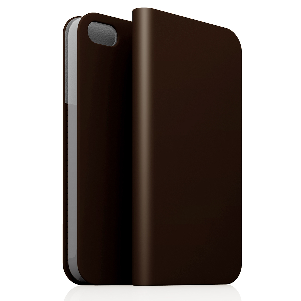 [iPhone5c] D5 Calf Skin Leather Diary ダークブラウン