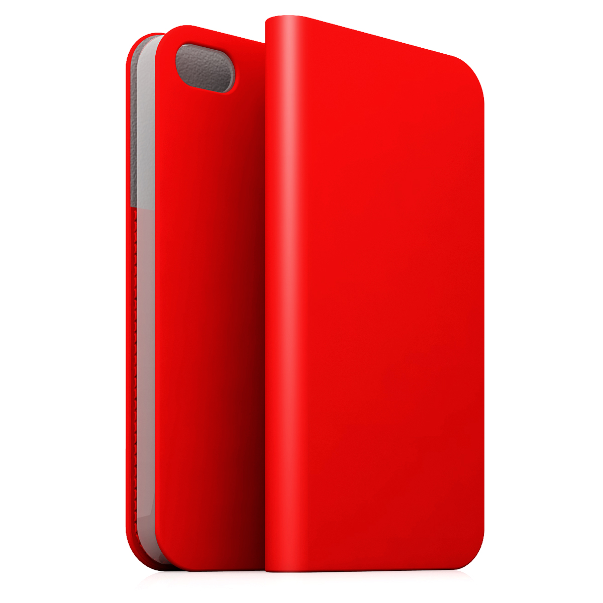 [iPhone5c] D5 Calf Skin Leather Diary レッド