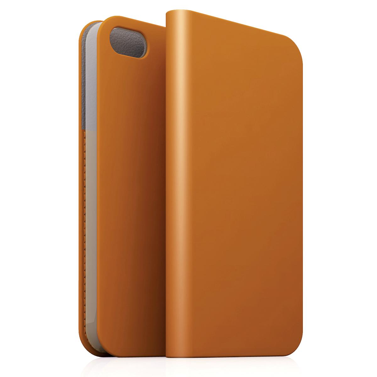 [iPhone5c] D5 Calf Skin Leather Diary タンブラウン