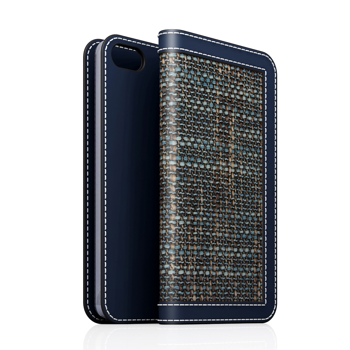 [iPhone5/5s] D5 Edition Calf Skin Leather Diary ネイビー