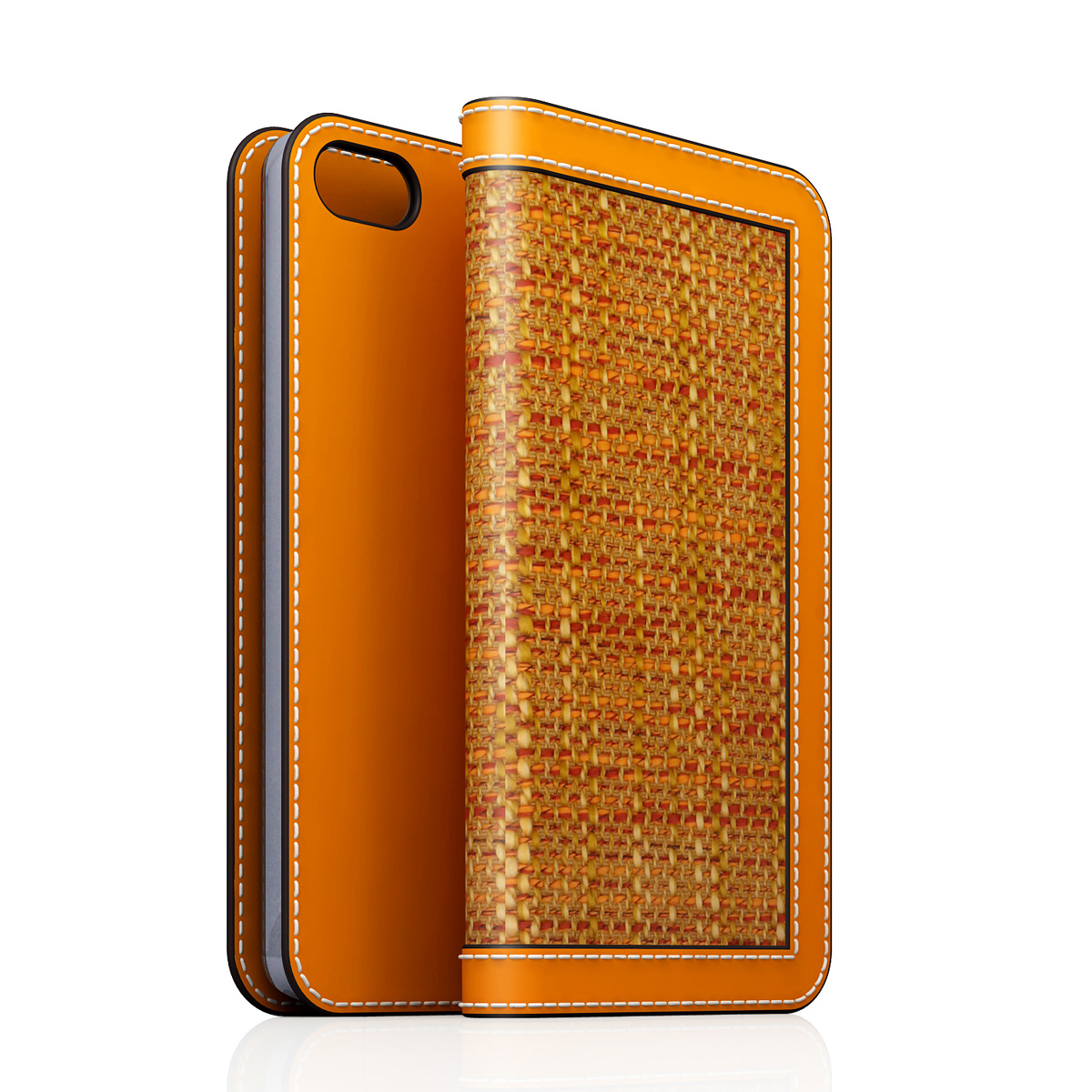 [iPhone5/5s] D5 Edition Calf Skin Leather Diary オレンジ