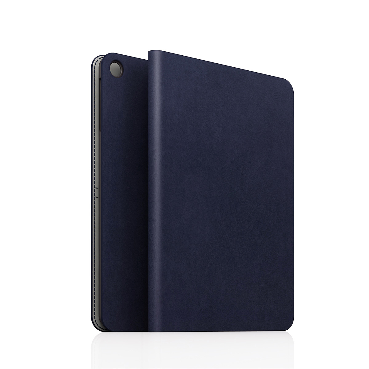 [iPad Air] D5 Calf Skin Leather Diary ネイビー