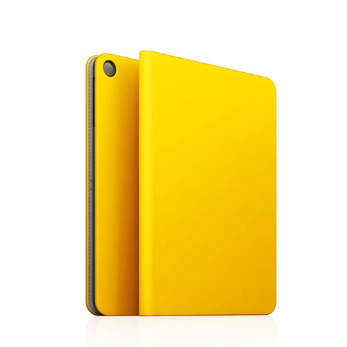 [iPad Air] D5 Calf Skin Leather Diary イエロー