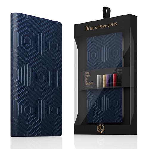 【iPhone6s Plus/6 Plus ケース】 SLG Design D4 Metal Leather Diary ネイビー(D4 メタルレザーダイアリー)