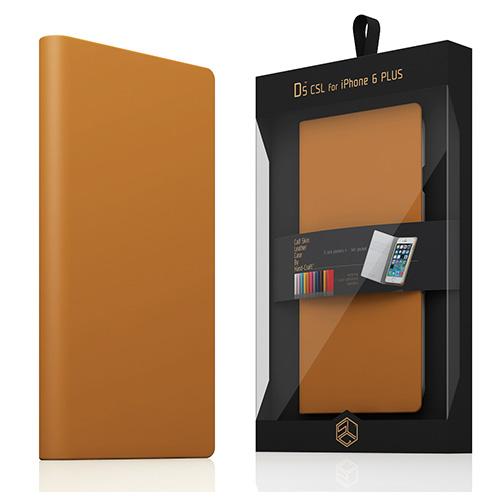 【iPhone6s Plus/6 Plus ケース】 SLG Design D5 Calf Skin Leather Diary タンブラウン(D5 カーフスキンレザーダイアリー)