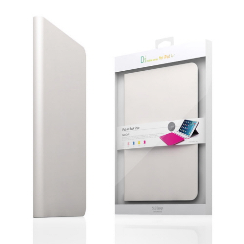 【iPad Air 2 ケース】SLG Design D5 CAL Diary ホワイト (アイパッドエアー D5 シー・エー・エルダイアリー) 前面保護フィルム付き