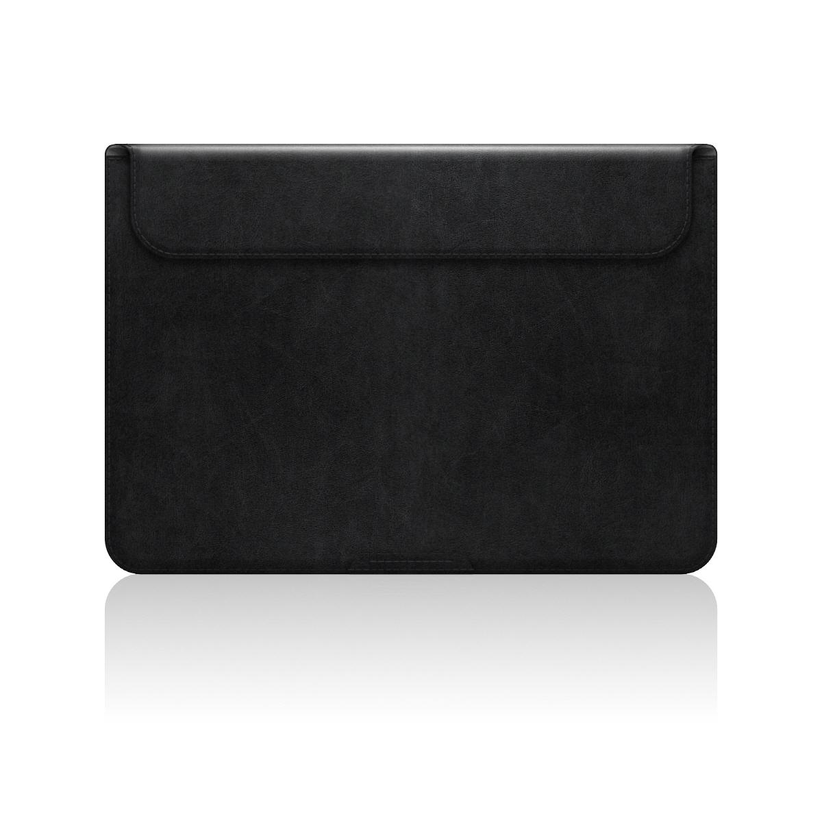 【MacBook 12インチ スタンドケース】 D5 Artificial Leather ブラック(ディーファイブ アーティフィシャルレザー)