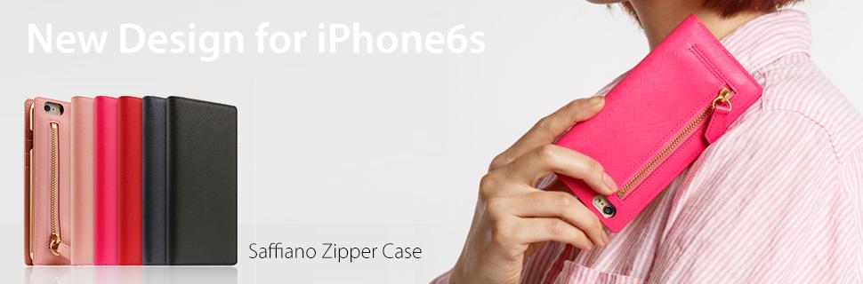 Saffiano Zipper Case for iPhone6s