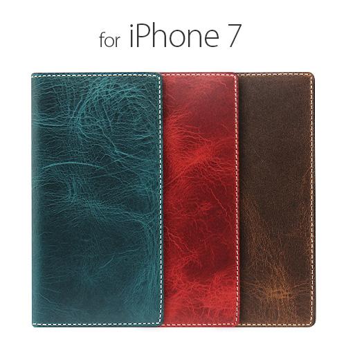 iPhone7 ケース 手帳型 SLG Design Badalassi Wax case