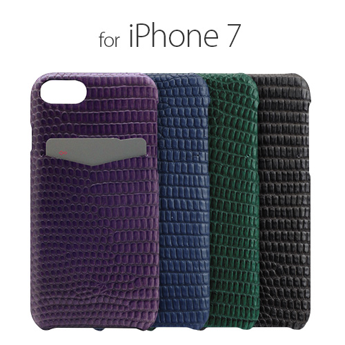 iPhone7 ケース カバー SLG Design Lizard Leather Back Case