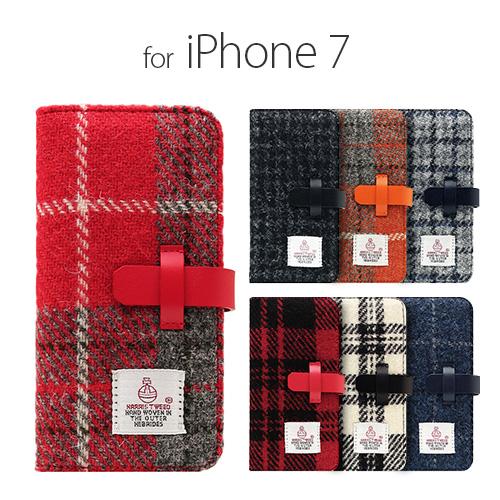 iPhone7 ケース 手帳型 SLG Design Harris Tweed Diary
