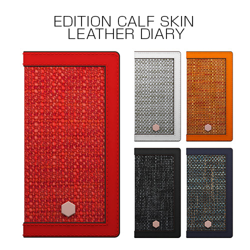 Phone8 Plus/7 Plus ケース SLG Design Edition Calf Skin Leather Diary