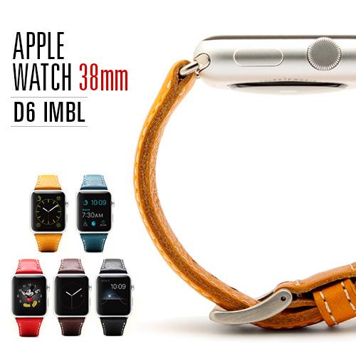 Apple Watch バンド 38mm用(Series 1,Series 2 対応)D6 IMBL(ディーシックス アイエムビーエル)アップルウォッチ レザー