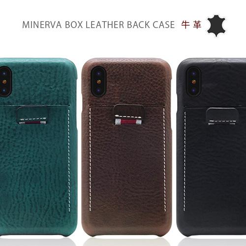 iPhoneX ケース 本革 SLG Design Minerva Box Leather Back Case